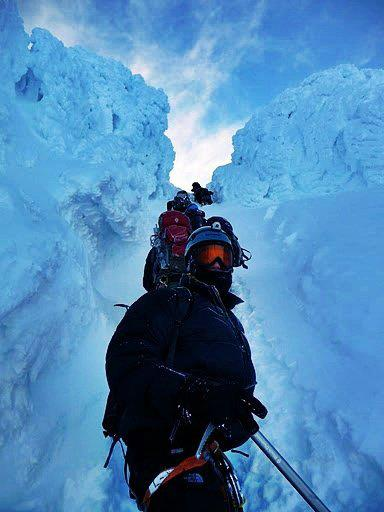One of only three to reach the summit on a stormy 2011 Mt. Hood expedition